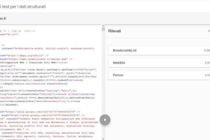 Schema.org dati strutturati rich snippet